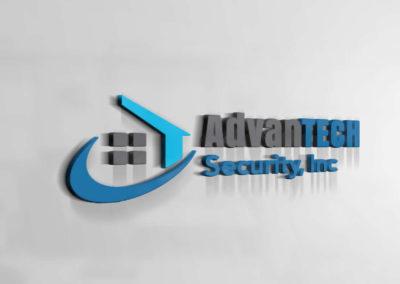 Digital Rize Brand Design - AdvanTECH Security Logo