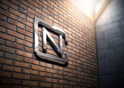 Digital Rize Brand Design - Nickell Construction Wall Logo